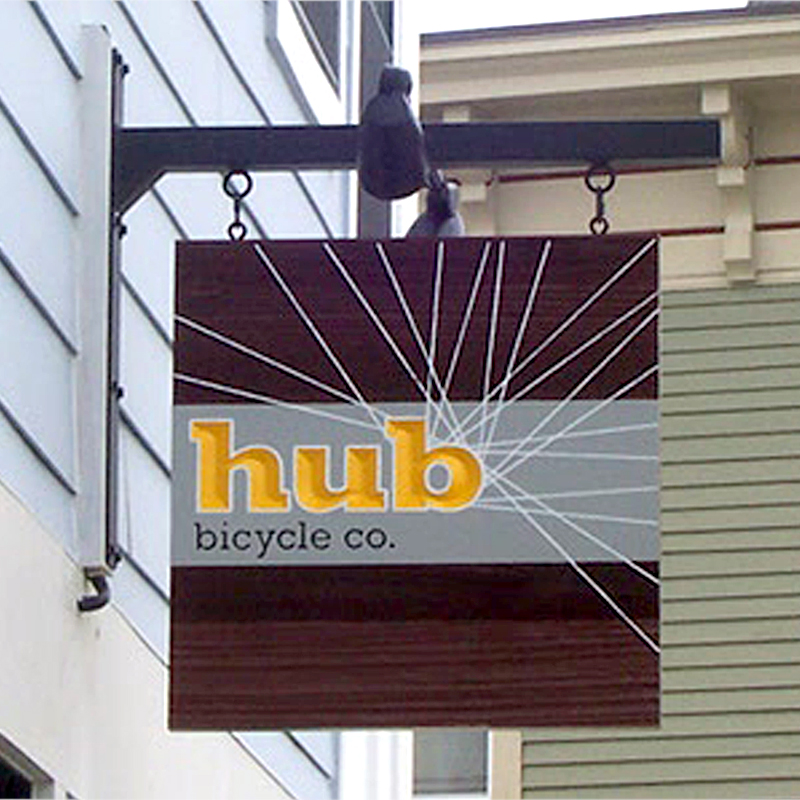 Hub Bicycle Co. Logo/Shingle Sign