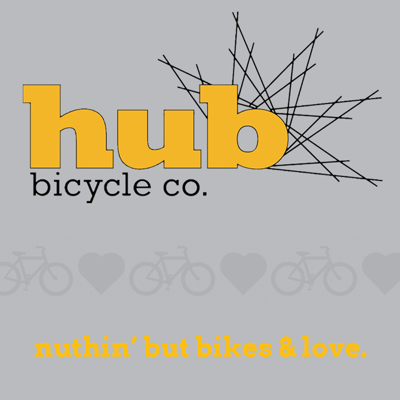 Hub Bicycle Co. Logo/Tagline