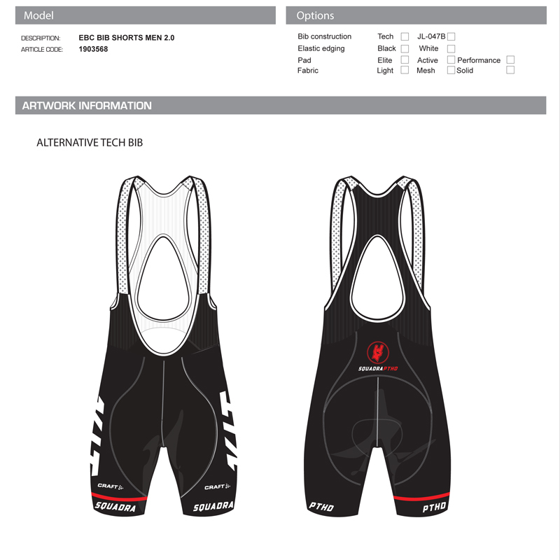 SquadraPTHD - Keep It Tight Cycling Team Illustrator Template Bib Shorts